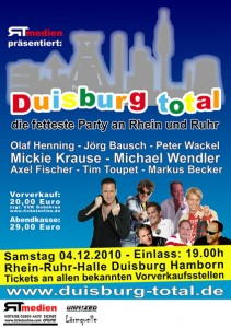 Plakat Duisburg Total - die fetteste Party an Rhein und Ruhr