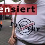 Wojnas Protest gegen Zensur beim CSD