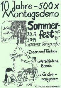 SommerfestMontagsdemo