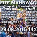 3. Bundesweite Mahnwache Berlin