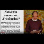 Das Friedensfest in Fürstenberg und die Zeitungen